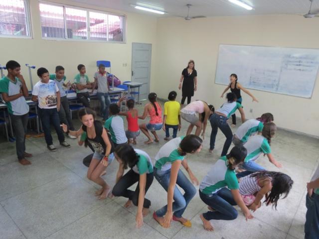 Experiência na escola Plínio Pinheiro