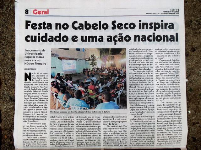 'Festa no Cabelo Seco inspira ação nacional'