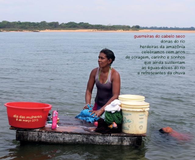 Elisangela de Cabelo Seco, mãe, avo, lavadeira (no Rio Tocantins) e gestora cultural no nosso núcleo gestor adulto, símbolo comunitário