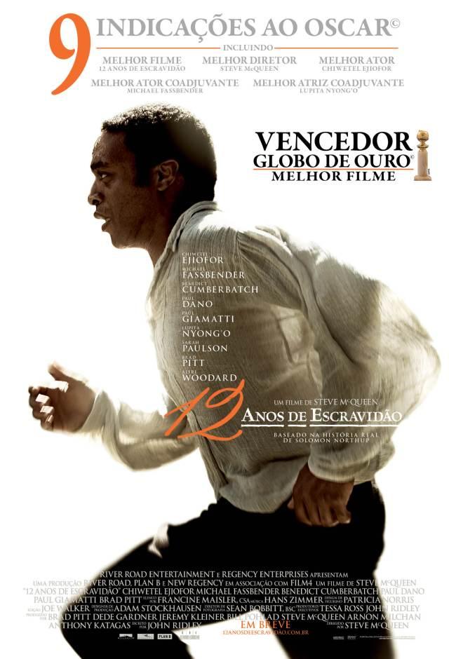 Nosso Cine Coruja estrela o filme '12 Anos de Escravidão' amanha no Barracão de Cultura no cinema comunitário de Cabelo Seco.