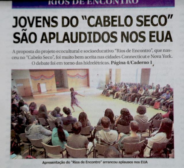 Capa do jornal Opinião, 18 de outubro de 2014.