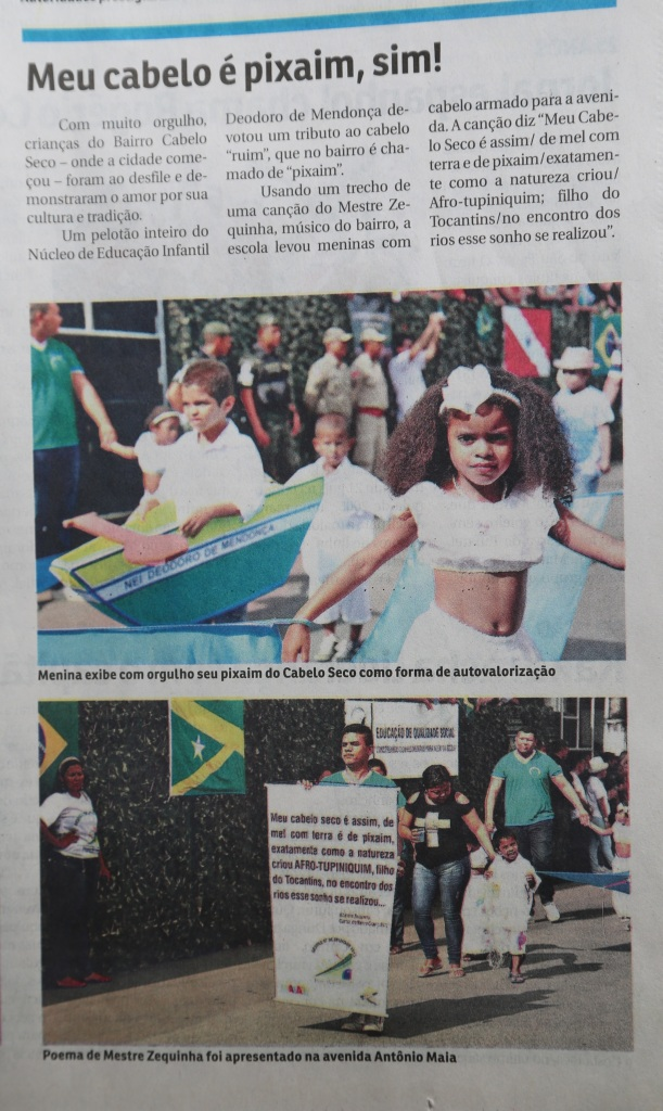 O mestre da cultura popular, Zequinha de Cabelo Seco, está homenagiado no banner do Núcleo de Educação Infantil, Deodoro de Mendonça.