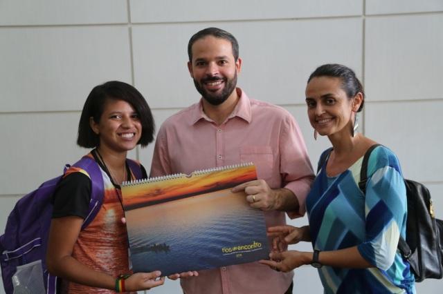 Carol Souza, Marcelo Bragato (Cenpec), Mano Souza, reunem depois de quatro anos, na premiação do Itaú-Unicef 2015