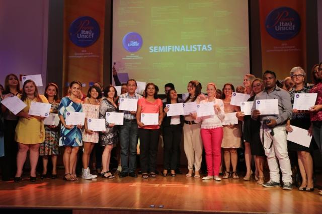 Semifinalistas da premiação Itaú-Unicef Educação Integral 2015.