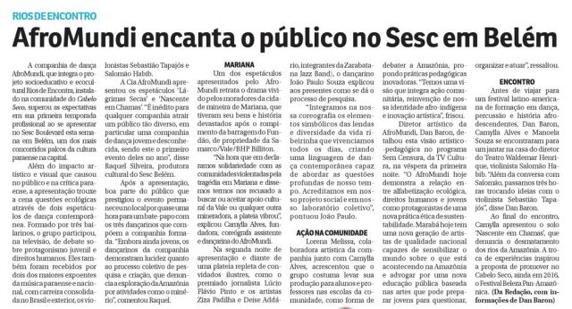 Matéria que saiu no Jornal Correio Tocantins.